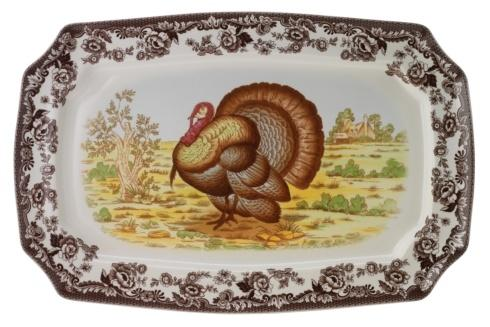 Spode Woodland Turkey Collection Large Rectangular Platter $132.00